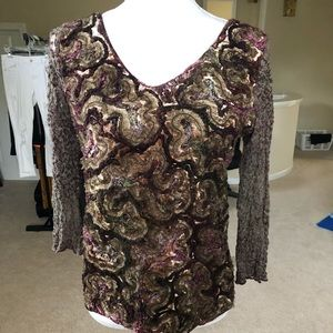 Textured Purple and Gold Top
